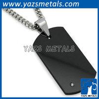 metal blank black dog tag