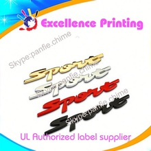 high quality hot sale self adhesive racing car sticker