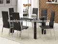 modern vidro temperado mesa de jantar e cadeira