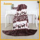 polyester brushed deer print christmas flannel fleece fabric for blanket