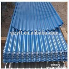 blue retractable aluminium roof,aluminium industrial roof,corrugated metal sheet