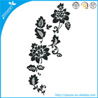 Zooyoo pvc original removable black flowers art deco vine wall stickers living room decor ideas
