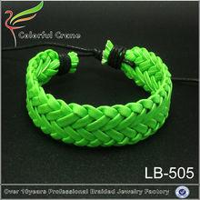 Handmade leather bracelet ideas colorful braided leather bracelet
