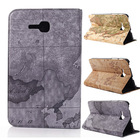 New 2014 World Map Tablet PCS Case Luxury Flip Leather Cover Case for Samsung Galaxy Tab 3 Lite 7.0 T110