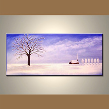 Popular modern heavy textured high quality abstract landscape art simple