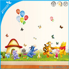 Zooyoo pvc original 206 removable animals bear wall decals nursery wall stickers self adhesive wallpaper