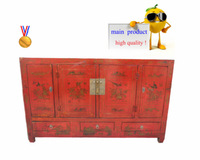 Chinese cabinet with printing flowers