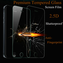 anti fingerprint 9H mirror screen protectors for iphone 5 glass screen protector film