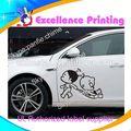 Alta calidad caliente de la venta de auto adhesivas etiquetas del coche y la etiqueta engomada