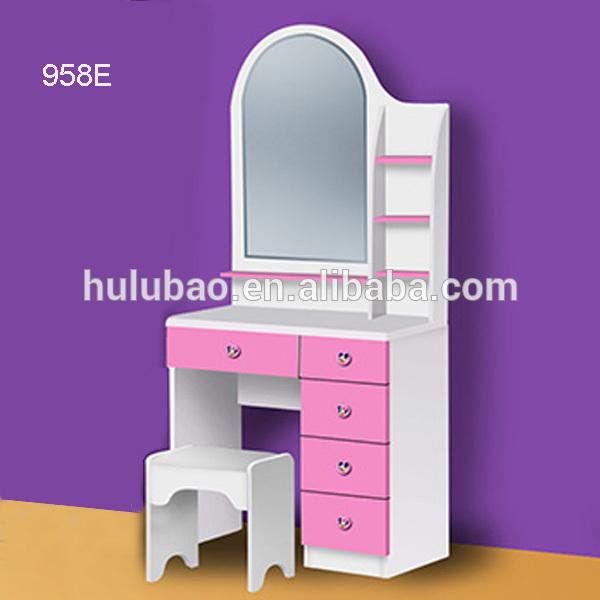 Dormitorio dresser de madera con espejo muebles de - Espejos para comodas de dormitorio ...