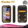 "IP67 5""inches Quad walkie talkie rugged phone Dual sim card 3G rugged phone runbo x6"