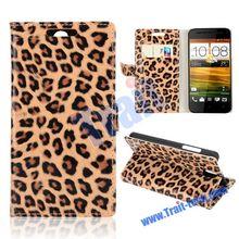 Leopard Pattern Wallet Leather Case for HTC Desire 610 Case
