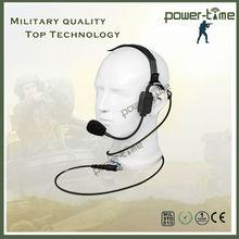 Cancelamento de ruído indiano uniformes do exército headset para ações e táticas especiais PTE-580