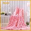 heart print flannel fleece fabric for children