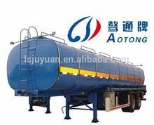 China 45CBM Aluminum Oil/Fuel tank trailer,fuel tanker semi trailer for export