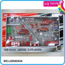 1:87 diecast metal fire truck model