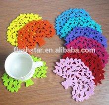 hot sale promotion glass coaster/tree shape coaster/coffee cup pad