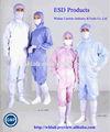 smock antiestático esd cleanroom uniforme