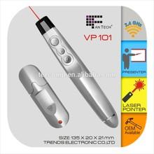 VP101 RF Wireless Presenter Laser Pointer Slide Changer Remote Powerpoint
