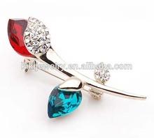 latest fashion rhinestone rose brooch pin