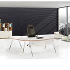 White L shape Modern Round Edge Office Desk