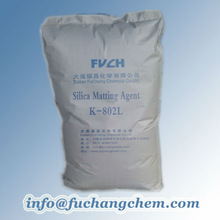 Matting agent for uv cured paint