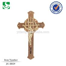 JS-H029 ABS plastic burial coffin casket crucifix