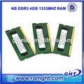 Chipset original con garantía de por vida 256mb*8 memoria ram del ordenador portátil ddr3 4gb con plena competitable