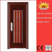 Decorative security door/Wrought iron single door/Iron grill door designs SC-S079
