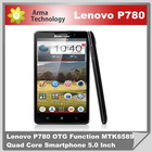 Original Android4.4 Phone Lenovo P780 MTK6592 Octa Core 1.4Ghz 2GB ram 4.7'' HD 1280x720 Dual Sim mtk6589 mobile phone unlock