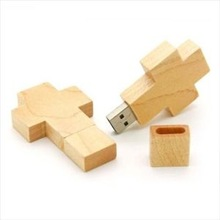 Wood Cross Flash Drive USB pen drive wholesale full capacity