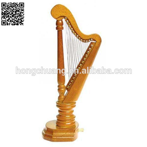 1/12 escala móveis dollhouse mini harpa
