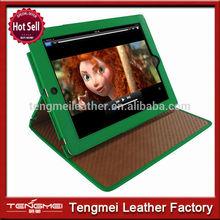 For ipad 2 3 4 new design leather case,leather folio case for ipad 3