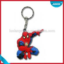 Spiderman promotion reflective pvc keychain