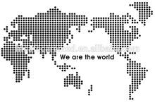 dot Fashion Large decal world map wall sticker