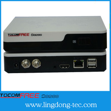 2014 new receiver 40 pc dongle tocomfree s928s with twin tuner free for Latin America