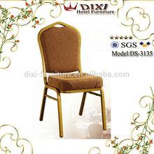 Aluminium banquet chairs Iron tube chair / hot sale steel chair / hotel Stacking banquet iron chairs