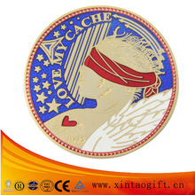 Wholesale enamel metal coin make logo coin souvenir coin