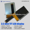 wide viewing angle 3.5inch transflective color tft lcd for Audiovisual equipment