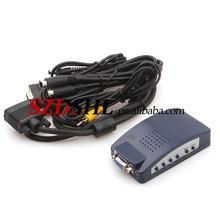 High definition PC VGA to S-Video TV AV RCA Splitter Video Converter Black
