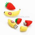 banana usb memory stick stawberry movimentação do flash do usb frutas forma pen drive usb