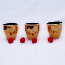 magic tricks Best Magic Cups and Balls(golden)wholesale