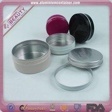 Red oxidation aluminum cream jar 15ml