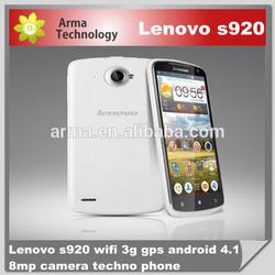 2104 Original 100% Lenovo S920 Smartphone Android 4.2 MTK6589 Quad Core 5.3 Inch HD IPS Screen- Dark Blue