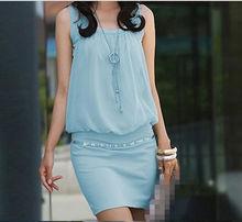 D21036Q 2014 NEW DESIGNS HIGH QUALITY DRAPE WOMEN'S COTTON DRESS