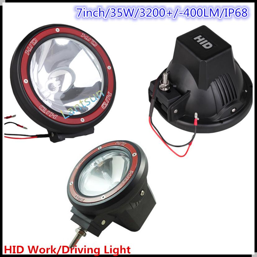 "auto hid driving light,auto tuning light 35w/55w7"" 9inch super bright remote area hid work light for heavy truck"