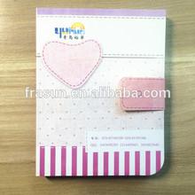 Card Board Circular Bead With Heart Magic Sticky Binder Notebook