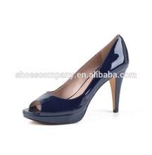 latest peep toe women shoes platform kitten heels wholesale