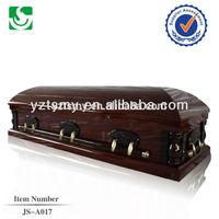 American style solid wood luxury wholesale mahogany casket