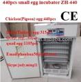 Incubatrice uova di quaglia/uovo incubatore/in acciaio inox tenere 440 uova di gallina automatico uovo incubatore prezzo incubatoio